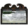 Antique French Chinoiserie Hand-Painted Beveled Mirror