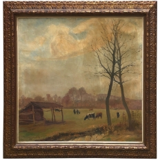 Framed Oil Painting on Canvas by H. Van Landenghem (1912 - 1976)
