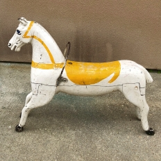 19th Century Hand-Painted Carved Wood Carousel Horse