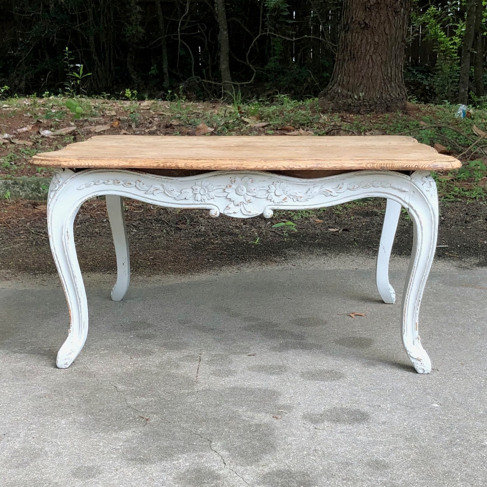 - Antique French Louis XV Painted Coffee Table