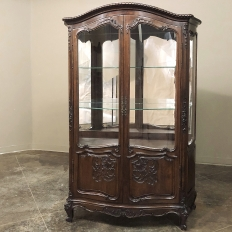 Antique French Louis XV Walnut Vitrine ~ Argentier