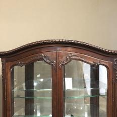 Antique French Louis XV Walnut Vitrine ~ Silverchest