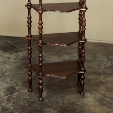 19th Century French Louis Philippe Rosewood Etagere Shelf Unit