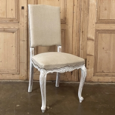 Set of 6 Antique French Louis XV Painted Dining Chairs