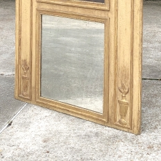 19th Century French Louis XIV Painted Trumeau Mirror
