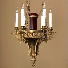19th Century Gothic Bronze Chandelier