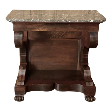 19th Century French Louis Philippe Period Mahogany Marble Top Console