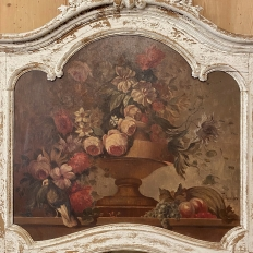 19th Century French Louis XV Painted Trumeau