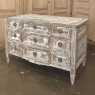 18th Century Country French Neoclassical Whitewashed Commode