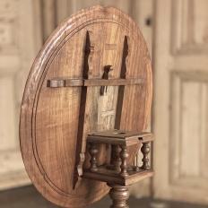 19th Century Dutch Walnut Tilt Top End Table