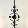 Pair Mid-19th Century Wrought Iron Torcheres ~ Candlesticks