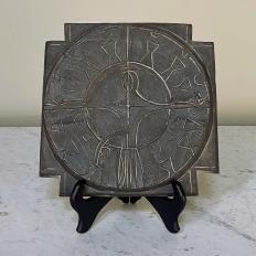 Mid-Century Cast Iron Sundial Tile