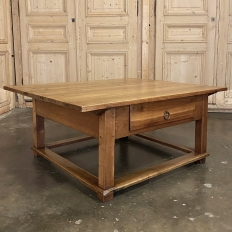 19th Century Rustic Country French Fruitwood Coffee Table