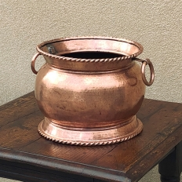 19th Century Copper & Brass Hand-Made Jardiniere