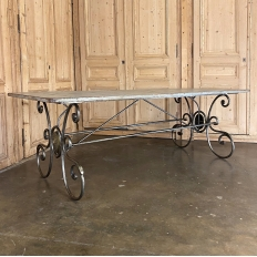 19th Century Door converted to Wrought Iron Dining Table