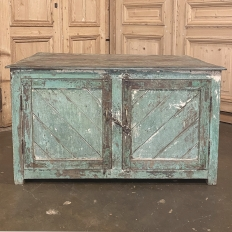 Antique European Painted Store Cabinet