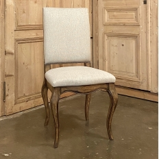 Country French Side Chair with Pecan Wood Finish