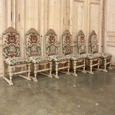 Set of 6 Mid-Century Renaissance Revival Dining Chairs