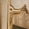 19th Century French Louis XV Painted & Gilded Trumeau Mirror