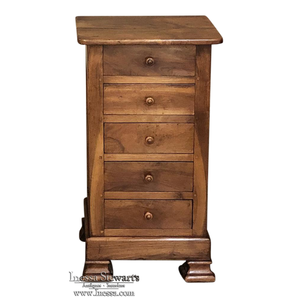 19th Century French Louis Phlipped Fruitwood Chiffoniere ~ Petite Commode