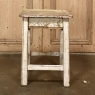 Rustic 19th Century Painted Stool ~ End Table