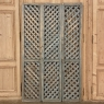 Set of 3 Latticework Shutters with Distressed Painted Finish
