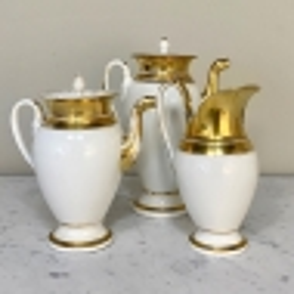 24 Piece French Empire Period Coffee & Tea Service