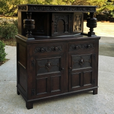 Antique Renaissance Two-Tiered Buffet