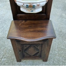 19th Century Country French Fountain with Porcelain Reservoir & Basin