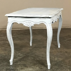 Antique French Louis XV Painted End Table