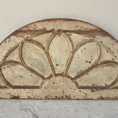Antique Architectural Demilune Door Transom