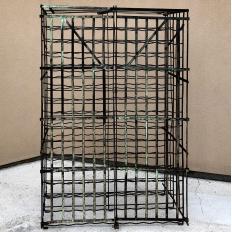 Antique Iron Cage Wine Bottle Rack
