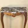 19th Century French Louis XV Walnut Marble Top Console