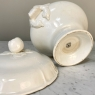 White Ironstone Soup Tureen and Ladle by Maestricht of Holland