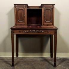Antique French Louis XVI Mahogany Wall Desk