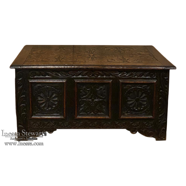19th Century Country French Trunk from Brittany