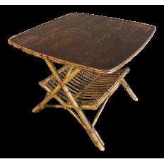 Mid-Century Rattan Table