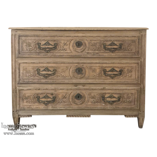 18th Century Country French Stripped Commode