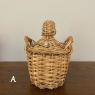 Lot of 3 Wicker-Wrapped Bonbons, sold EACH
