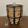 Antique Wicker-Wrapped Bonbon Wine Bottle with Iron Cage (2 available, sold EACH)