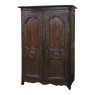18th Century Country French Armoire with Carved Lone Stars