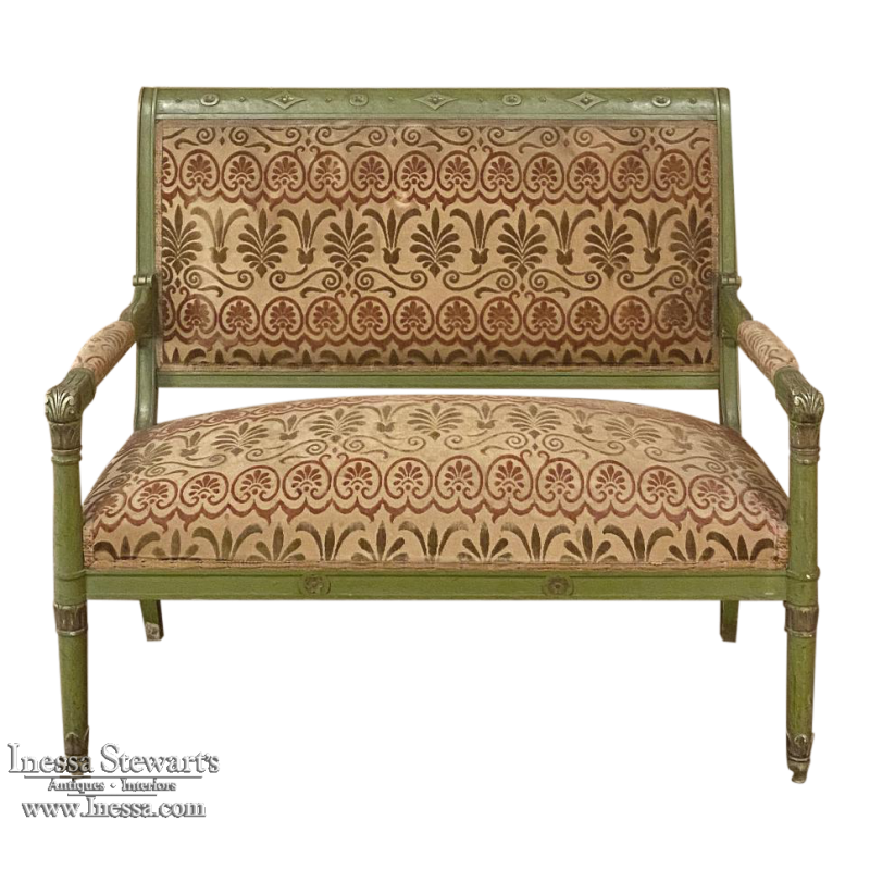 Antique French Directoire Style Painted Canape ~ Loveseat ~ Sofa
