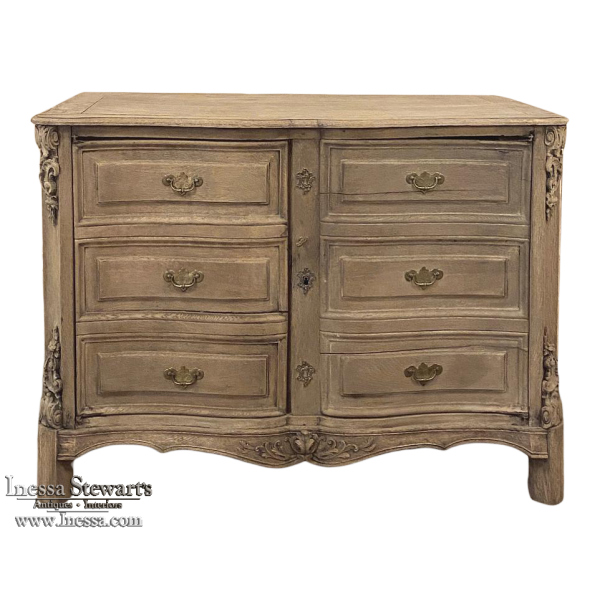 18th Century Country French Provincial Stripped Buffet