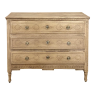 Early 19th Century Country French Louis XVI Stripped Oak Commode