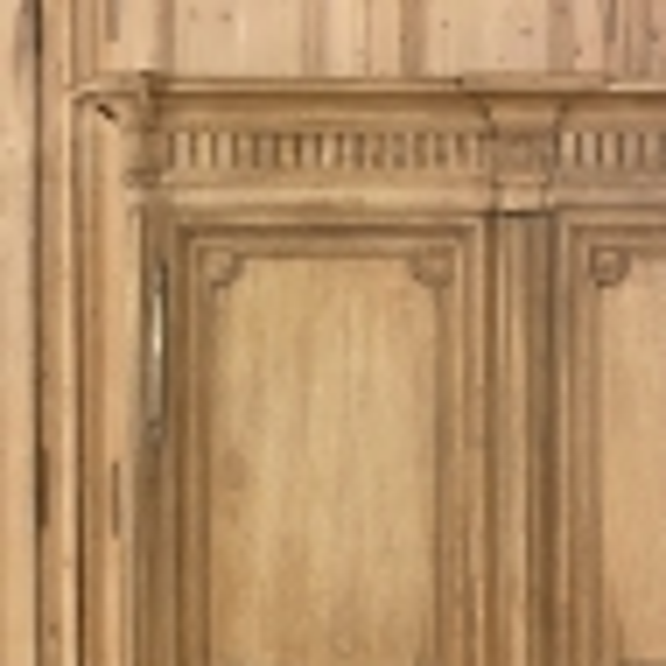 Early 19th Century French Louis XIV Stripped Oak Armoire