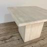 Mid-Century Modern Travertine Coffee Table ~ Side Table