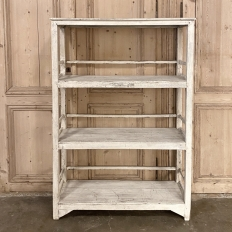 Antique Painted Open Shelf Bookcase