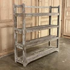 Antique Painted Open Shelf Book Rack ~ Display Shelf