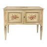 Antique Italian Neoclassical Hand-Painted Low Buffet ~ Console