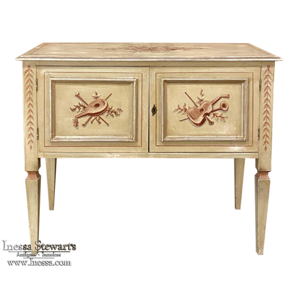 Antique Italian Neoclassical Hand-Painted Low Buffet ~ Sofa Table ~ Console